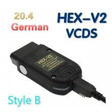 Новейшие тестеры WESHEU VCDS HEX USB V2 Интерфейс Vag Com 20.4.2 для VW AUDI Skoda Seat VAG 20.4.1 английская немецкая польская версия