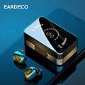 EARDECO Mirror Screen Wireless Headphones Bass Bluetooth Earphone 3500mAh Sport Wireless Earphones Earbuds In Ear Headset Mic