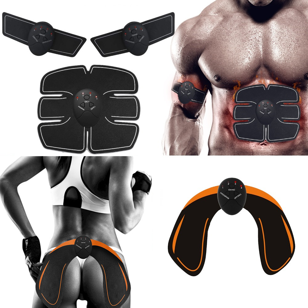 EMS Abdominal Muscle Stimulator Fitness Home Gym Electric Hip Trainer Abdomen Arm Exercise Vibration Massager Body Slimming Belt