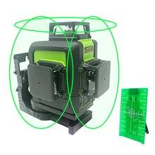 Зеленый лазерный нивелир самовыравнивания 360 горизонтальный вертикальный лазерный луч 2/5/8/12 линий лазерный уровень 3D 360