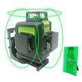 Зеленый лазерный уровень самонивелирующийся 360 горизонтальный вертикальный лазерный луч 2/5/8/12 линий лазерный уровень 3D 360