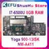 Kefu 900-13isk Материнская плата ноутбука для lenovo yoga 900-13ISK yoga 900-13ISK Материнская плата ноутбука I7-6500U 8 Гб NM-A411 тест 100%