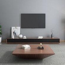 Nórdicos café Mesa TV armario combinación pequeño apartamento simple italiano minimalista de lujo luz café Mesa TV armario vida