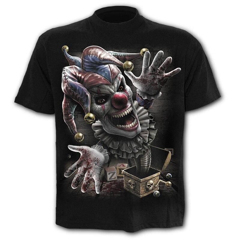 Scary Clown Men's T-Shirts Men's Hip Hop 3D Shirts Casual O-neck t-shirt Summer Fashion Tops Boys clothing large size streetwear