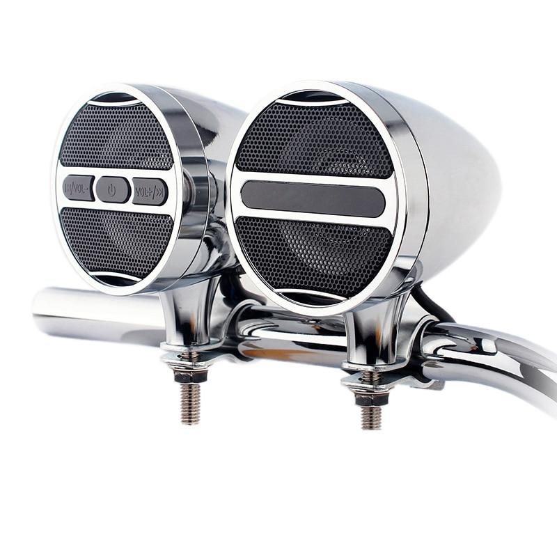 12V Motorcycle Mp3 Bluetooth Audio All Metal Car Handlebar Audio Electric Car Waterproof Horn Plug In Radio Box