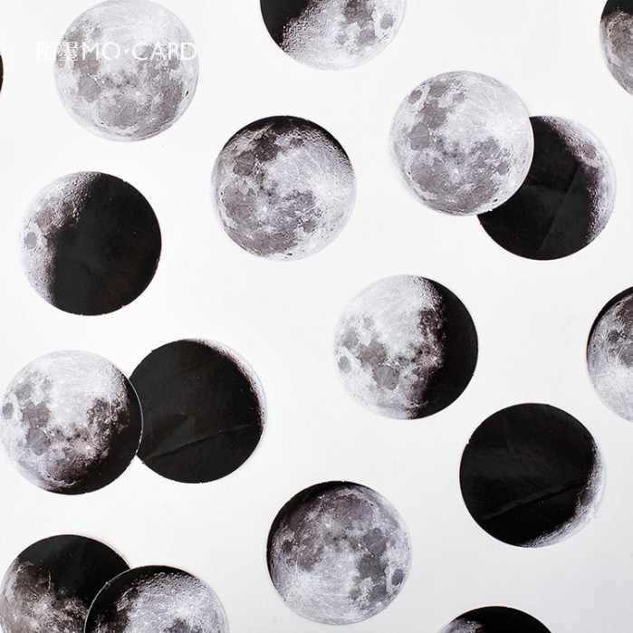 45 teile/schachtel Mond Sieht Schreibwaren Aufkleber Kawaii Tagebuch Handgemachte Klebstoff Papier Flake Japan Aufkleber Scrapbooking Schreibwaren