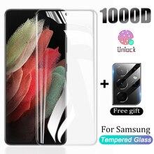 Закаленное стекло для Samsung Galaxy Note 20 S20 S21 Ultra S10 S9 S8 Plus, защита экрана S 21 10 9 S10E Plus HD, защитное стекло