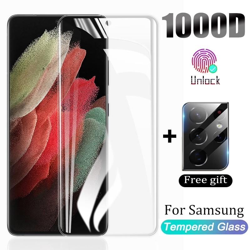 Закаленное стекло для Samsung Galaxy Note 20 S20 S21 Ultra S10 S9 S8 Plus, защита экрана S 21 10 9 S10E Plus HD, защитное стекло Защитные стёкла и плёнки для телефонов      АлиЭкспресс