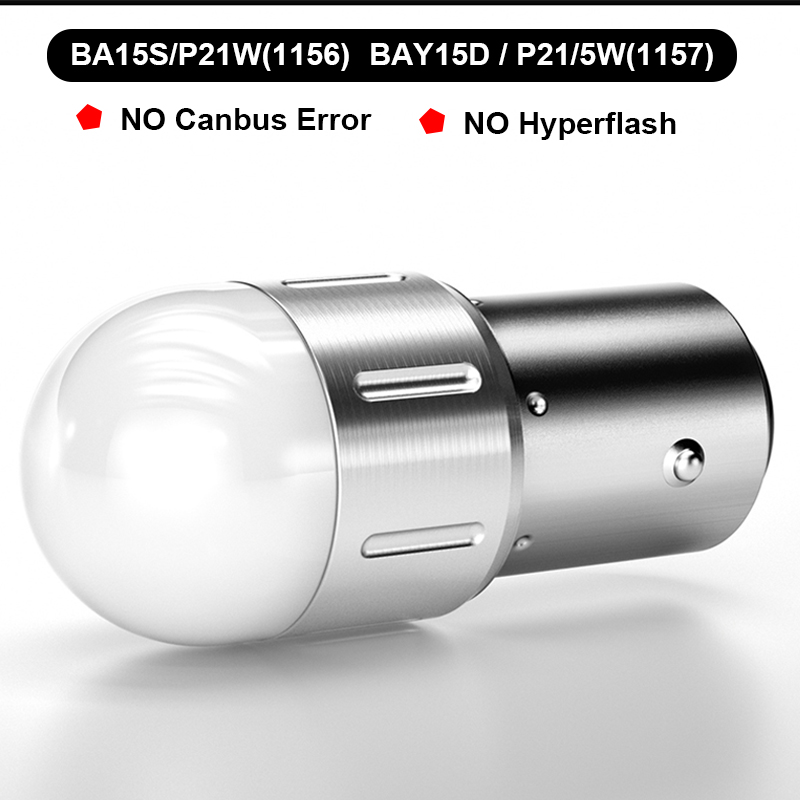 2X Car <font><b>LED</b></font> Turn Signal Lights Bulbs BA15S P21W 1156 12V Amber Auto Lamp For <font><b>Audi</b></font> <font><b>A4</b></font> B7 <font><b>B5</b></font> A6 C6 Q5 Honda Civic 2006-2011 Fit DRL image
