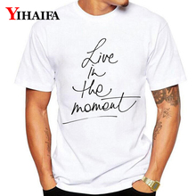 New Summer T-Shirt Mens Womens Simple Letters 3D Print Funny Graphic Tees Casual O-Neck Cotton Tee Shirts Unisex Tops