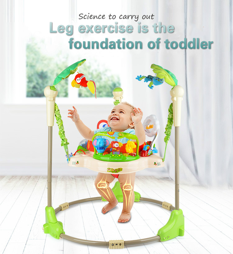 Hde92eedb361d48e28917b5417cac9686z Multifunctional Electric Baby Jumper Walker Cradle Tropical Forest Baby Swing Rocking Body Child bouncer Swing Fitness Chiar