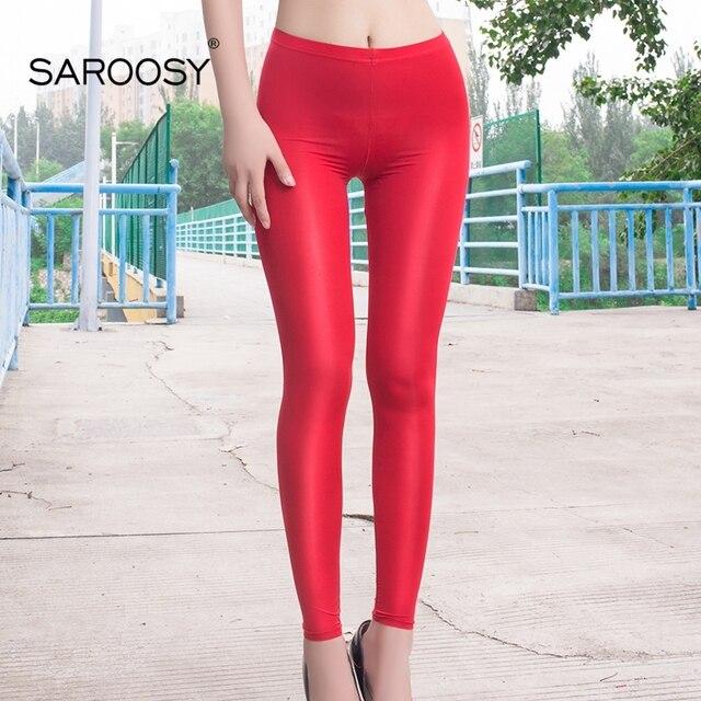 2018 NEW Sexy Slimming Nylon Leggings for Women 8 Colors Shinny Under Sun Sheer Pants Elastic Leggings Plus Size Open Crotch 3