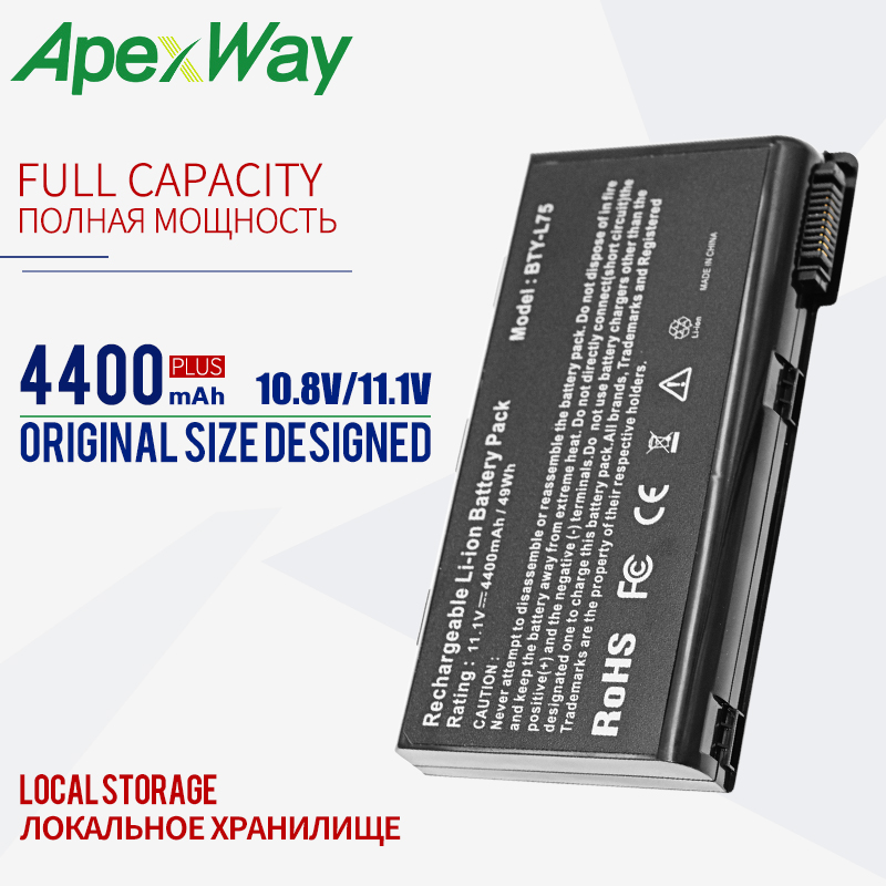4400mAh 11.1v laptop battery For <font><b>MSI</b></font> CX610 CX620 <font><b>CX620MX</b></font> CX620X CX630 CX700 GE700 EX460 EX610 CX623 CX705 CX705MX image