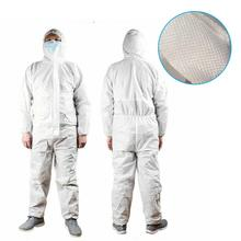 unisex Disposable Protective Clothing Suit Non-Woven White Hazmat Waterproof Coverall
