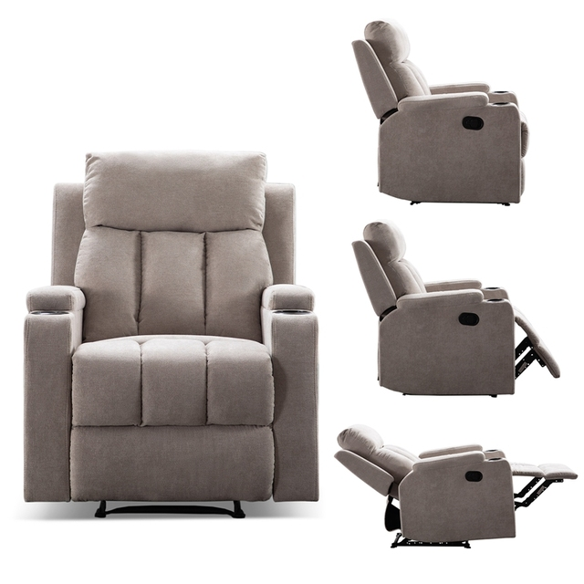 Recliner Chair With 2 Cup Holders for Theater Seating  6