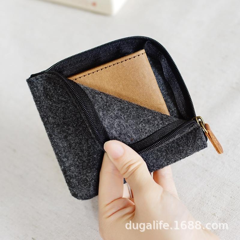 Men's Women's Short Wallet Couples Multi-functional Handmade Bag Students Purse Mini Hipster Wallet Fashion