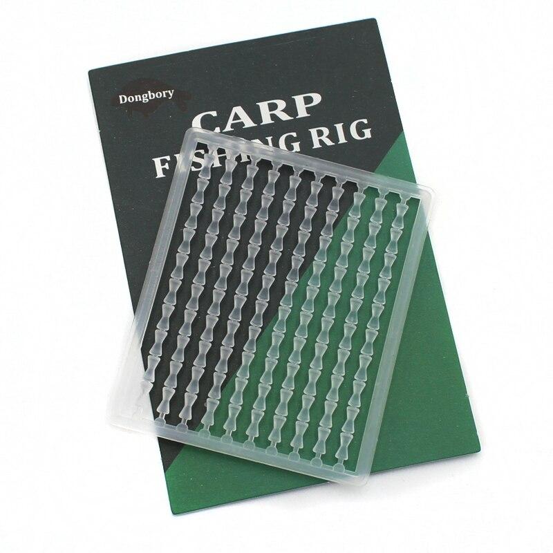 10 Pcs Clear Hair Rig Fishing Boilie Stops Dumbell Bait Rig 1000 Carp Stopper