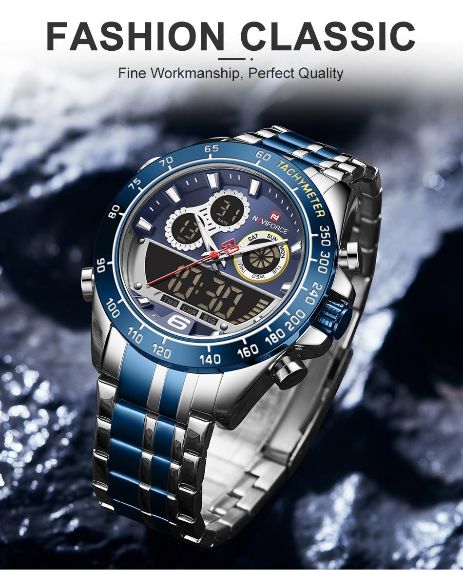 NAVIFORCE 9188 Steel Watch 6