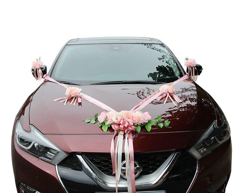 ¡2019 nuevo! Flores artificiales de coche de boda, decoración de flor falsa, flores de seda simuladas para manualidades, flores de centro de boda