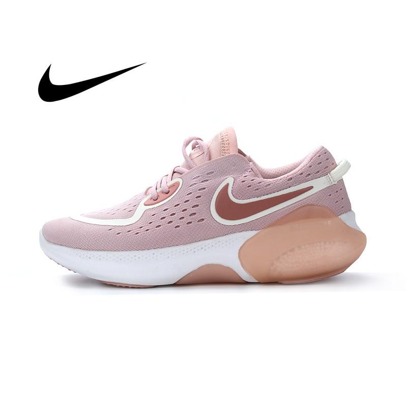 Zapatillas Nike Joyride Run Flyknit para correr con Logo Swoosh transpirables y duraderas zapatillas de deporte al aire libre Zapatos casuales de cuero genuino zapatos de las mujeres zapatillas de deporte otoño blanco luz zapatillas plataforma Med talón damas zapato cómodo zapato vulcanizado