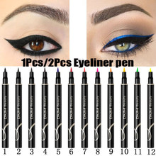 Neue 12 Farben Make-Up Wasserdicht Neon Bunte Flüssigkeit Eyeliner Pen Make Up Comestics Lange anhaltende Black Eye Liner Bleistift make-up(China)