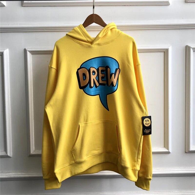 2020SS Justin Bieber DREW House Printed Hooded Sweatshirts Hoodie Men Women 1:1 Best-Quality Casual Sweatshirts Hoodie Pullover