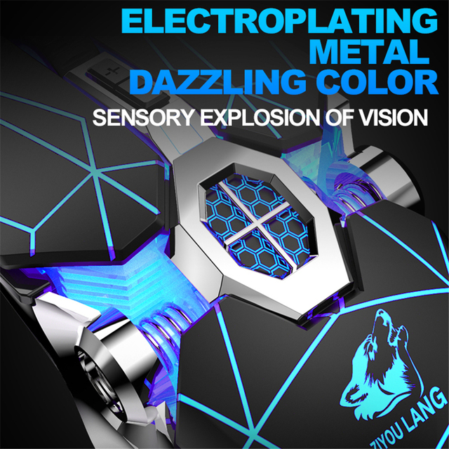 Wireless Mice Rechargeable Game Ergonomics Mouse Mute Liquid-cooled Shining Mechanical Mice 2400DPI With 7keys 6