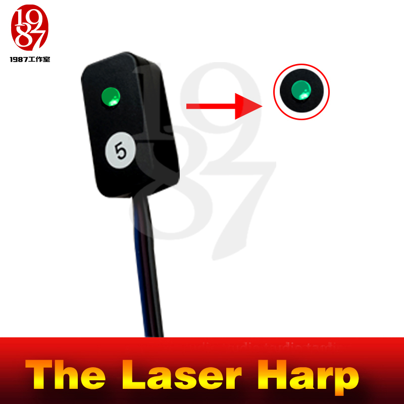 Image 4 - Takagism Game prop laser harp for room escape game puzzle clues device Play the right rhythm to unlock and get away chamber room-in Alarm System Kits from Security & Protection