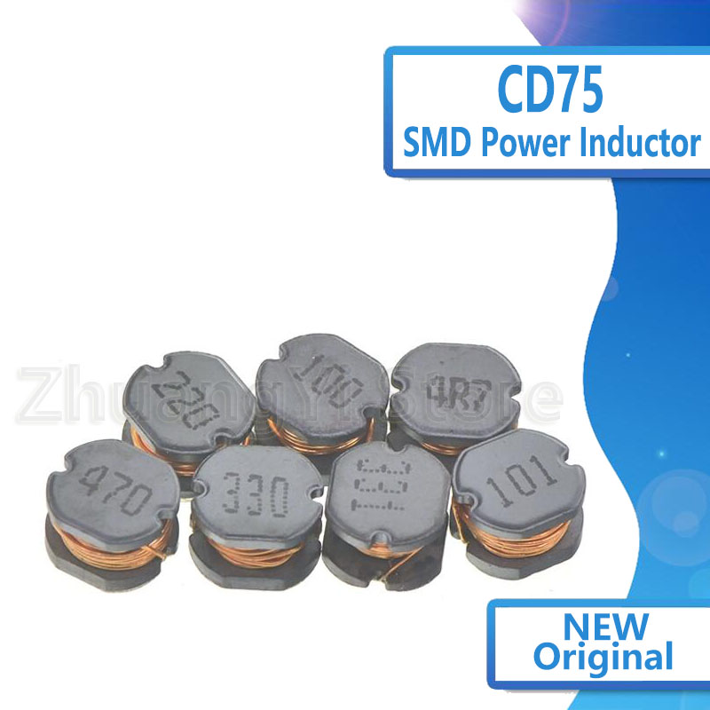 10pcs/lot SMD Power Inductor CD75 3.3uH 2.2uH 4.7uH 6.8uH 10uH 22uH 33uH 47uH 100uH 220uH 330uH 470uH 100 220 330 470 101 471