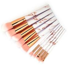 10 Pcs/Set Marbling Make Up Brushes Multifunctional Makeup Brushes Foundation Co