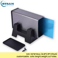 Aluminium junction box diy Electronics Enclosure project box extruded metal junction case distribution box 160*96*50mm
