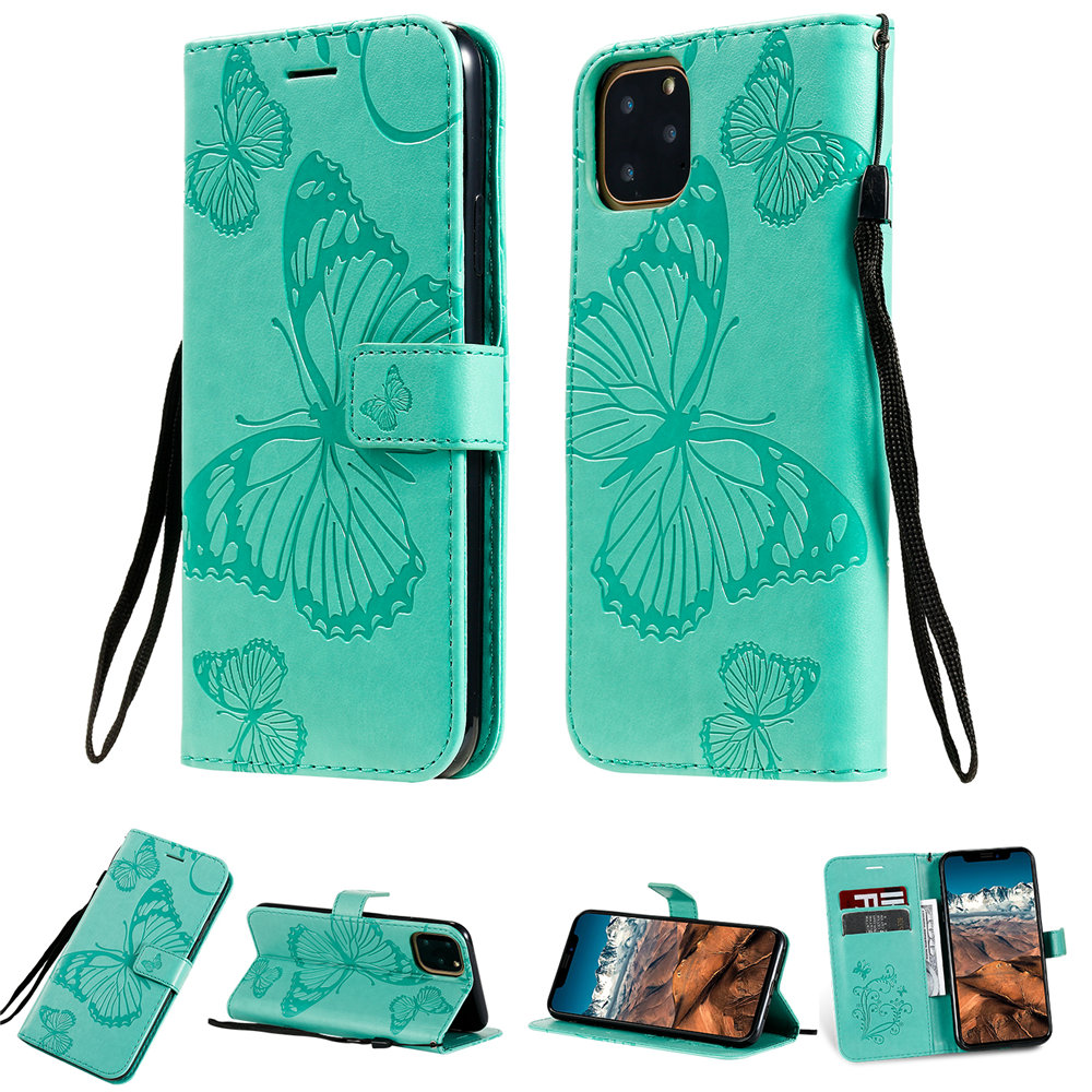 Butterfly Leather Wallet Case for iPhone 11/11 Pro/11 Pro Max 8