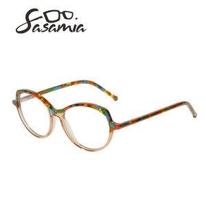 Image 3 - Sasamia Brillen Frame Vrouwen Vintage Kat Bril Recept Bril Frames Bijziendheid Lenzenvloeistof Frame Voor Vrouwen Trends