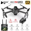 Hubsan Zino PRO Plus Zino 2 + GPS Drone with 4K 30FPS /60FPS UHD WiFi FPV Camera Quadcopter 3-Axis Gimbal 8KM Dron Vs SG906 MAX