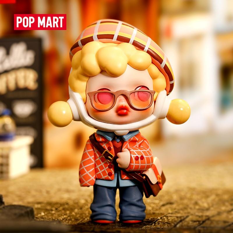 POPMART Skullpanda Hypepanda серии глухая коробка Кукла бинарные Действие игрушки Рисунок на день рождения, Детские кубики, подарки для детей, игрушки