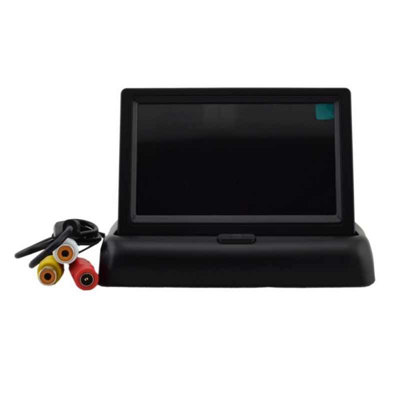 Entrada de vídeo Whosale 4,3 pulgadas Monitor de coche TFT LCD HD Digital 16:9/4:3 480*272 Pantalla de 2 vías para cámara de visión trasera inversa DVD VCD