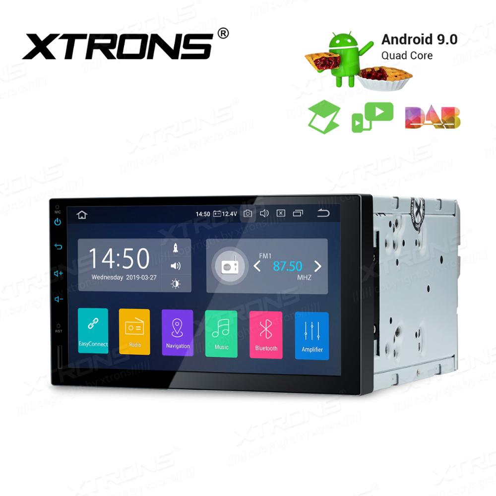 7'' Android 9.0 Universal Car Multimedia Radio Stereo Player GPS Navigation DAB+ TPMS Bluetooth FM WIFI USB 2 Din NO DVD image