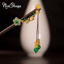Niushuya ручная работа китайский Винтажный Зеленый лист цветок