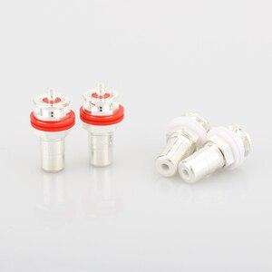 Image 1 - Hot Koop 8 Stuks Verzilverd RCA Phono Chassis Panel Mount Vrouwelijke Socket Adapter