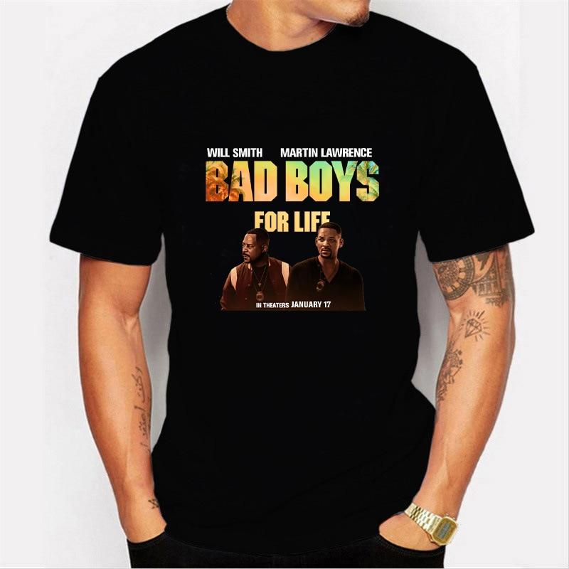 Bad Boys For Life T Shirt Cotton Short Sleeve Tops Men Harajuku Tshirt Casual O-neck Tee Summer Street Style Funny Loose T-shirt