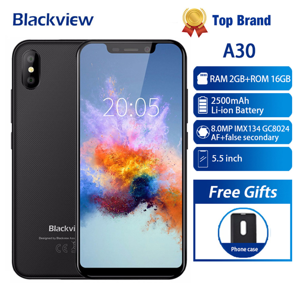 Gift! New Blackview A30 Smartphone Android 8.1 3G WCDMA QHD 5.5