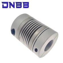 Corrugated coupling D25L37 4/5/6/6.35/8/9/9.525/10/12mm CNC Aluminium Alloy For Stepper Motor Coupler Shaft Couplings 3D Printer