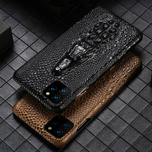 Luxury Genuine Fhx mqk 3D Dragon Head Grain Cow Leather phone case For iPhone 11 Pro Max X XS Max XR 6 6s 7 8 Plus cover cases