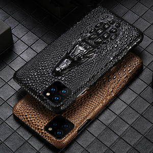 Image 1 - Luxury Genuine Fhx mqk 3D Dragon Head Grain Cow Leather phone case For iPhone 11 Pro Max X XS Max XR 6 6s 7 8 Plus cover cases