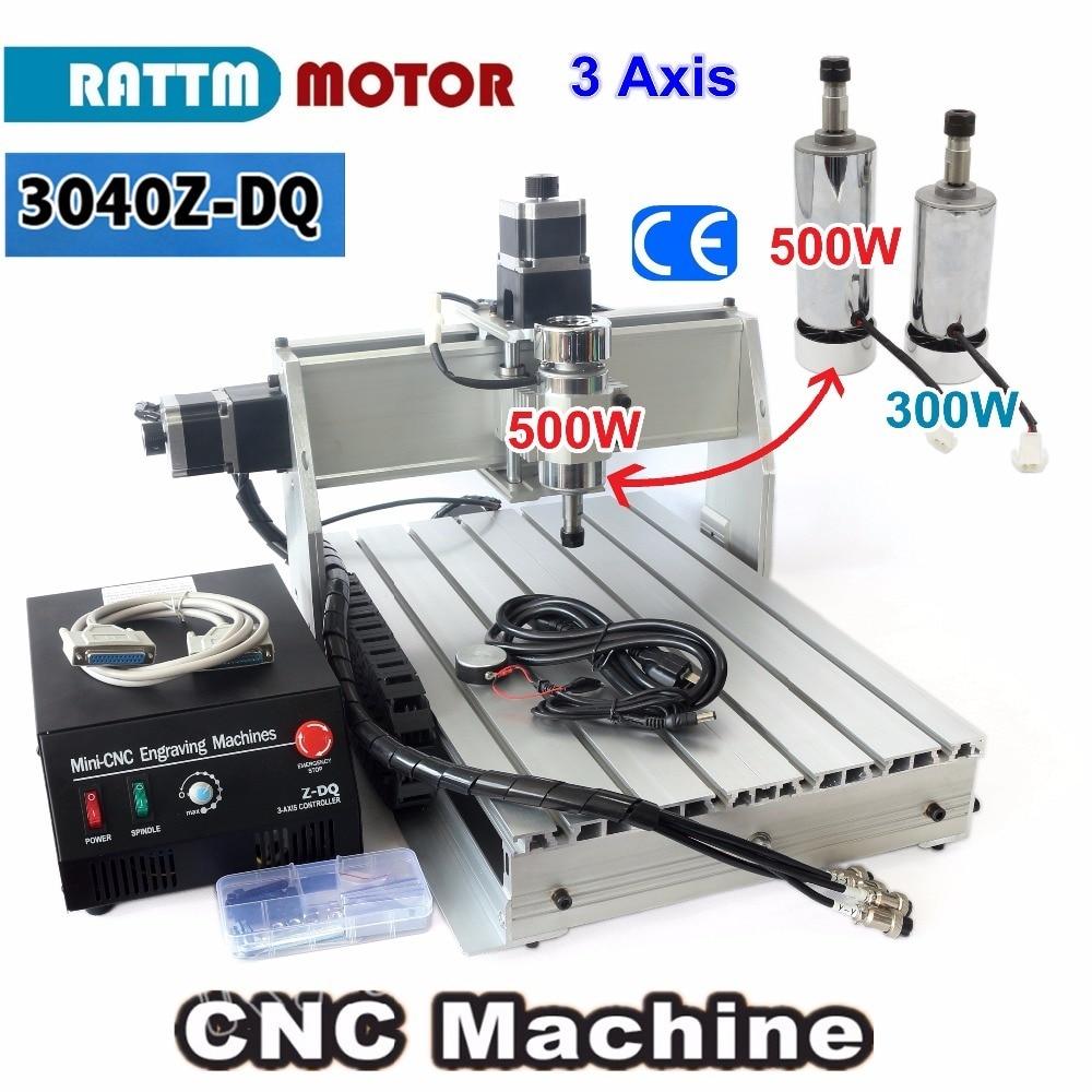 3 Axis 500W 3040 CNC  3040Z-DQ CNC ROUTER ENGRAVER/ENGRAVING Milling Cutting DRILLING Machine Ballscrew 220V/110V