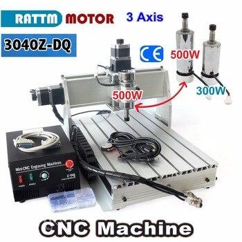3 Axis 500W 3040 CNC  3040Z-DQ CNC ROUTER ENGRAVER/ENGRAVING Milling Cutting DRILLING Machine Ballscrew 220V/110V russia no taxes ly cnc router 4 axis cnc milling machine 6040z d300 engraving machine
