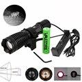 940nm ИК светодиодный свет ночного видения Zoom инфракрасный мигающий фонарик для охоты + 18650 + USB зарядное устройство + крепление для прицела + ди...