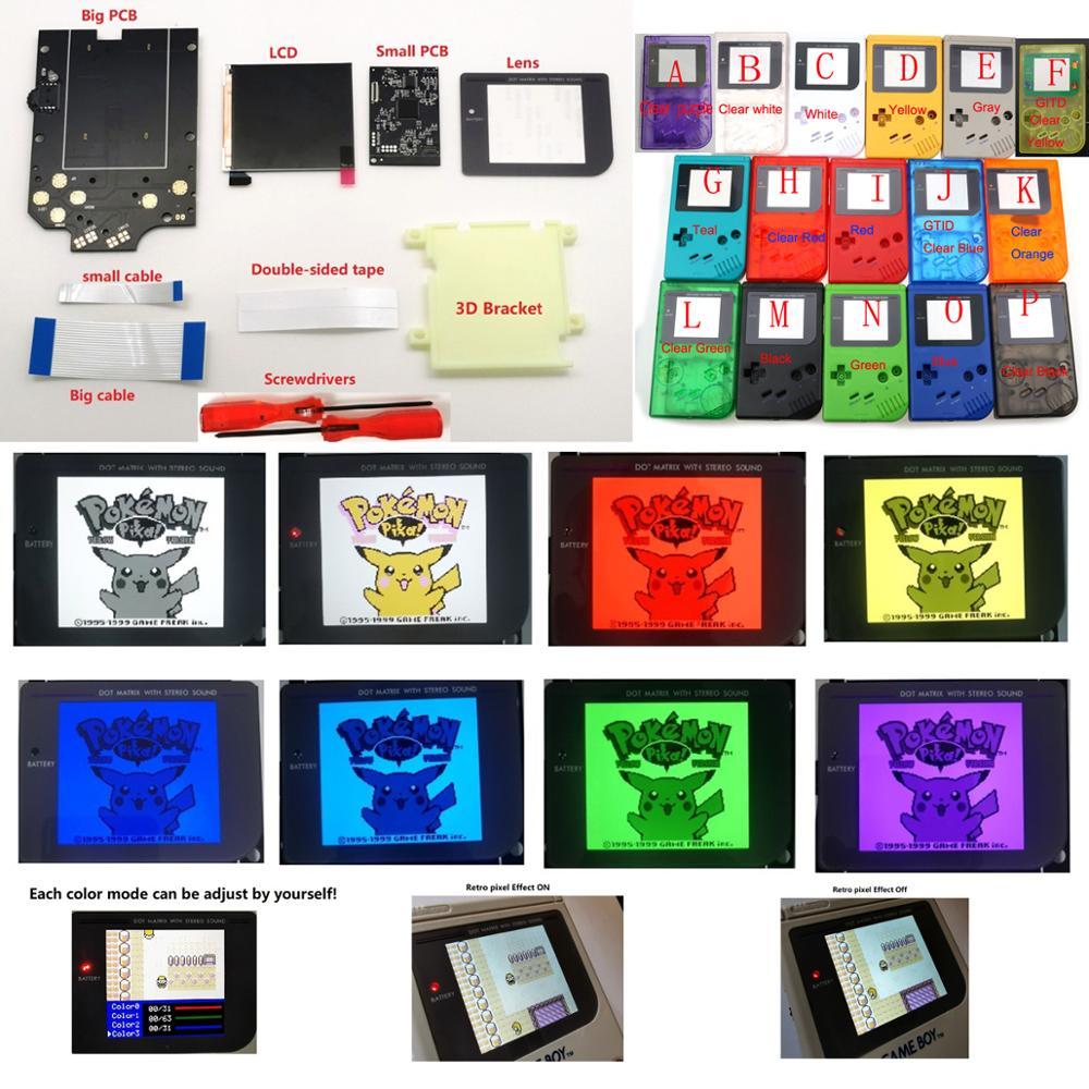 Большие размеры, супер OSD R IPS ЖК-дисплей высокой четкости iPS комплект подсветки для консоли GameBoy DMG GB DMG IPS ЖК-дисплей с цветом