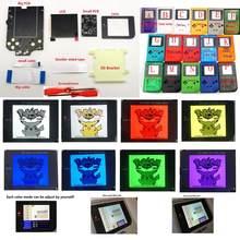 Diy tamanho maior super osd rasga lcd de alta definição ips retroiluminação kit para gameboy dmg gb console dmg ips display lcd com cor