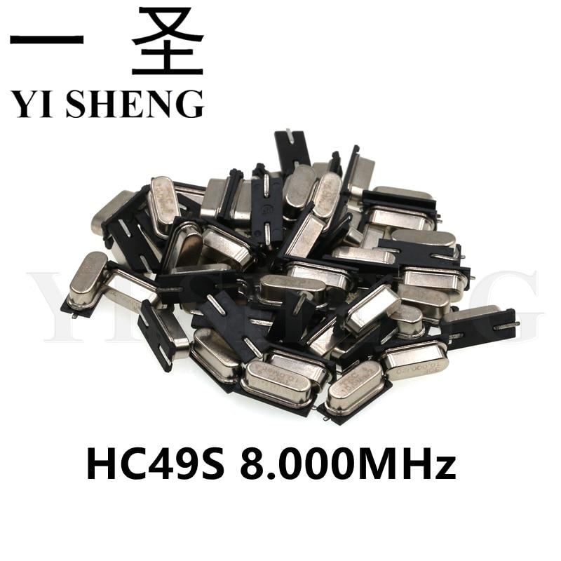 20pcs smd hc-49s 8MHz 8.000mhz 20ppm 20pF quartz resonator crystal